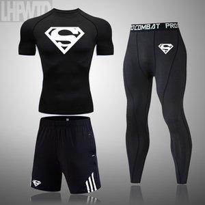 ملابس الرياضية الجديدة ضغط سروال التدريب الرجال الجري للياقة البدنية مجموعة رياضة كرة السلة الملابس ديبورتيس الجوارب