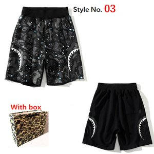 Calções de algodão dos homens Esportes Respirável Solta Pants Calças Moda Hip-Hop Casual Streetwear Calções de Secagem rápida com etiqueta e caixa