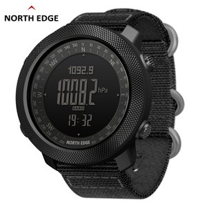 NORTH EDGE Men's sport Digital watch Hours Running Swimming Military Army watches Altimeter Barometer Compass waterproof 50m