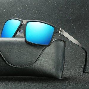 Luxury-Sunglasses 1 Top Men's Sunglasses Men's High-End Sunglasses High-End Business Glasses Metal Hinges UV400 High-Grade Square Driver