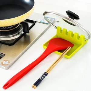Küchengerät-Regal-Löffelhalter-Ständer-Kunststoffpfanne-Schaufel Ruhen für Topf-Cover-Besteckspatel-Halter-Rack Küchenzubehör HHE3728