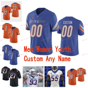 Stitched Custom 40 Tyrone Crawford 6 CT Thomas 8 DeMarcus Lawrence Sean Modster 81 Akilian Butler Boise State Broncos Men Women Youth Jersey
