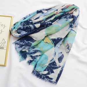 Mode Trendy Frauen Langer Druck Schal Wrap Damen Schal Mädchen Große Ziemlich Schal Tole Strand Schönheit Frauen Zubehör Geschenke1
