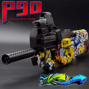 Electric P90 لعبة بندقية كتابات ناعمة جل الماء الكرة بندقية لعبة بندقية cs الاعتداء معركة قناص لعبة سلاح حفيد ابن أخي هدايا Y1116