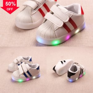 SAGACE Kleinkind Sneakers Schuhe Mädchen Jungen Mode Gestreifte LED Mesh Light Baby Light Shoe Las Leuchtende Für Kinder LED Casual Sport Turnschuhe # 150