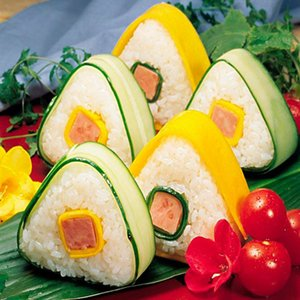 Triangle Sushi Moule NOUVEAU BALLE DE RICE D'ORIGINE NICE PRESSE MABRICATEUR CUISING TOOL SUSHI FABRICATION Outils DWA2476