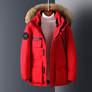 Parka Men2019 New Goose Short Men's Down Slim Thick Big Fur Collar Winter Clothing Fashionable Warm Parkas Jacket 3xl