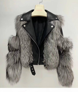 OFTBUY 2020 Winter Jacket Women Real Fur Coat Natural Fox Fur Collar Outwear Thick Warm 100% Genuine Leather Sreetwear Casual