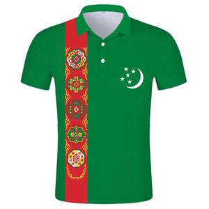 TURKMENISTAN POLO shirt free custom name tkm POLO shirt nation flag tm kyrgyz turkmen country diy print photo text logo clothes