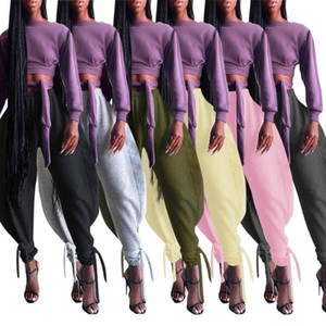 4S wholesale women clothing dress bulk lot Bandage Capris can private custom label if and only if meet our minimum requirement