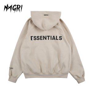 Nagri Essentials Brasão homens correndo Jacket Zipper camisola Sportswear Gym Hoodies Vestuário Formação