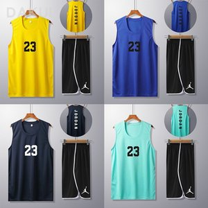 new ball Basketball summer suit teenagers' men's basketball uniform wear boys' breathable vest basketball clothes printing 2021