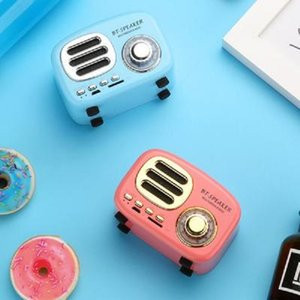 Creative retro speaker Wireless mini radio Compact and convenient computer mobile phone card Literary style of Home Office