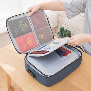 Waterproof Briefcases Portable Office Travel File Card Storage Business Pouch Holder Large Capacity Document Organizer Bag Suff