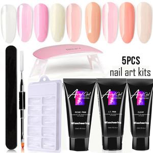 Nails Art Kits UV Gel Nails Builder Builder Kit de Extensão LED Lâmpada Nails Gel Polonês Set 15ml Kits de Prego Acrílico para Iniciantes
