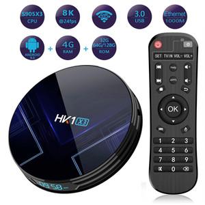 HK1 X3 Amlogic S905X3 Smart TV BOX Android 9.0 4GB RAM 32GB 64GB 128GB ROM 2.4G 5G wifi Bluetooth 4K UHD Set Top Box vs X96 MAX