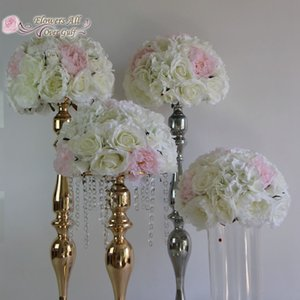 flowers all over gulf new artificial flower ball half centerpieces for rose and peony wedding party backdrop decoration