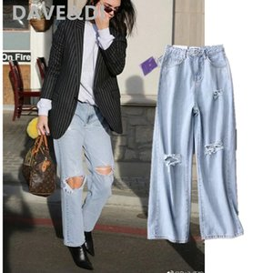 Davedi Moda Blogger Kendall Jenner Vintage Mamãe Mulher Cintura Alta Boyfriend Jeans Para As Mulheres