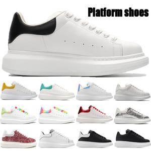 2021 Yeni Üst Platformu Rahat Ayakkabılar Üçlü Siyah Beyaz Yansıta Lazer Gökkuşağı Kireçli Çok Renkli Kuyruk Erkek Kadın Sneakers ABD 6-11