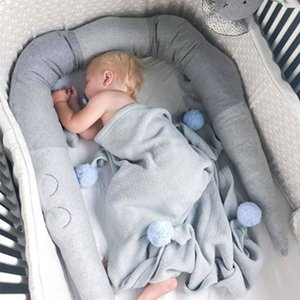 215cm Long Pillow Baby Crocodile Cotton Cushion Kids Bed Crib Fence Protector Bumper Toys Stuffed Bed Child Sleep Accompany Gift Z1123