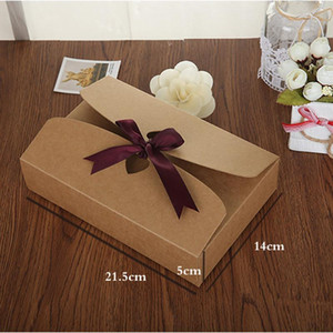 100pcs lot 21.5*14*5cm big size Paper Craft Boxes, underwear packaging gift boxes Sock Packing Box
