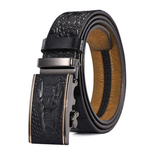 Men Belts High Quality Male Genuine Leather Strap Waist Crocodile Luxury Famous Brand