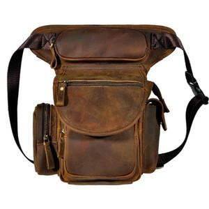 Leather Mens Designer Casual Messenger Shoulder Mochila Bag Fashion Heavy Duty Travel Fanny Belt Waist Pack Drop Leg Bag 3109-d