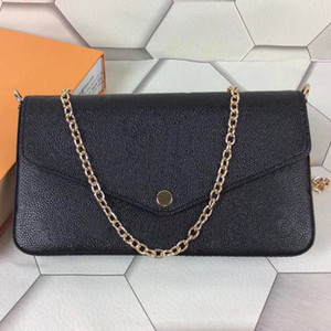 With box Fashion High Quality Woman Chain Purse Lady Shoulder Bag Handbag Mini Package Messenger Bag Card Holder Purse For Women Bags