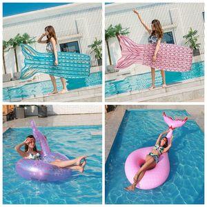 Sommer aufblasbare Schwimmmatratze Pool Float Giant Pool Lounge Erwachsene Schwimmen Ring Frau Floß Wasser Cirle Pool Toys Beach J1210