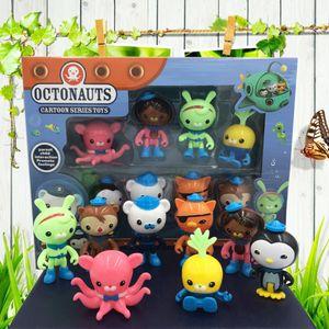 8 قطعة / المجموعة أونتاجا عمل الشكل لعبة الكابتن barnacles البطريق مصغرة نموذج دمية أطفال هدية Y1130