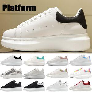 Üst platform yansıtıcı rahat ayakkabılar üçlü beyaz siyah yansıtmak çok renkli kuyruk gümüş Pullu kireç kırmızı hakiki deri erkek kadın Sneakers