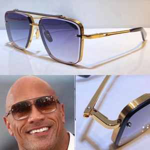 Hombres Modelo popular M Six Gafas de sol Metal Vintage Estilo de moda Gafas de sol Square Sin marco UV 400 Lens vienen con paquete de estilo clásico