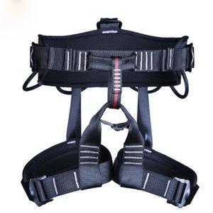 Half Body Waist Support Safety Belt Harness Aerial Equipment Caving Seat Belt Security Seat Belt Climbing Rappelling Harness Q1118