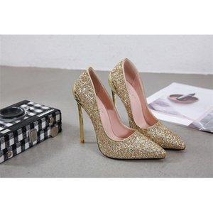 Dadiingwu vente chaude dorée / argent PU Haute Qualité talon chaussures de danse de fête latine Performance de la salle de bal Chaussures de danse Talons 13cm LJ200924