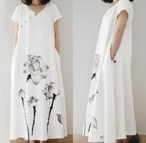 Elegant Printed Maxi Dress Womens Summer Sundress ZANZEA 2020 Casual Short Sleeve Tunic Vestidos Female Button Robe Plus Size