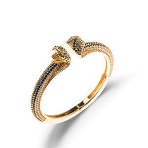 European and American Serpentine Rings with Diamond-plated-plated Adjustable Open Lady Braceletgood.