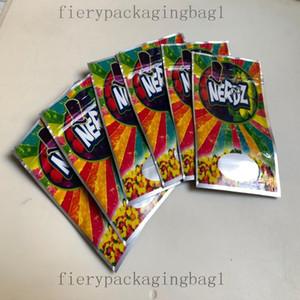 2021 Neue Taschen Verpackung 3,5g Rainbow Mylar Leere Tasche Lokale Nerdz Candy Bags Edibles WMTSIN OP