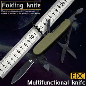 Couteau pliant multifonctionnel EDC auto-défense outil d'auto-défense à l'extérieur couteau pliant alpinisme de camping chasse pêche à la pêche