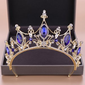 2021 골드 프린세스 헤드웨어 Chic Bridal Tiaras 액세서리 멋진 크리스탈 진주 웨딩 티아라와 크라운 121510