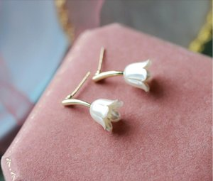 2020 The new small lovely and fresh art tulip flower shape female jewelry earrings for date shopping 411