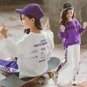 Children's Sports Suit Spring Autumn New Letter Sweatshirt +pants Teenage Girls Clothes Set Kids Casual Tracksuit 3-14 Year