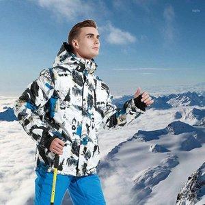 Nuovo tuta da sci invernale Donne antivento impermeabile caldo imbottito imbottito sci da snowboard giacca da sci e giacca da neve + pantaloni set1