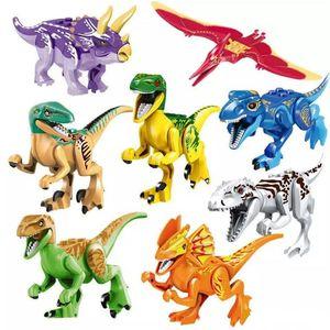 Dinosaurier von Block Puzzle Ziegelsteine Dinosaurierfiguren Bausteine Baby Bildung Spielzeug für Kinder Geschenk Kinder Spielzeug Gut