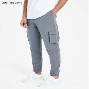 Hip Hop Sweat Pants Vintage Cargo Pants Joggers Men Harem Multi-pocket Ribbons Man Sweatpants Streetwear Casual Harajuku1