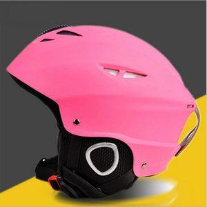 Casque de ski d'hiver chaleureux et coupe-vent unisexe unisexe portable neige antichoc absorption équipement de sécurité Skateboard Sports Helmets