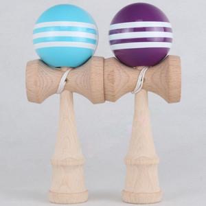 많은 색상 18.5cm * 6cm PU kendama 공 일본 전통 우드 게임 장난감 교육 선물, 180pcs 활동 선물 장난감 EWF3372