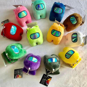 Among US Plush Keychain With BB Voice New Toys Wholesale Hot Sell Plush Toy Colorful Stuffed Doll Christmas Gift