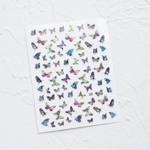 3D Stickers Waterproof Cute Butterfly Nail Stickers Nail Simulation Laser Butterfly Art Dropshipping