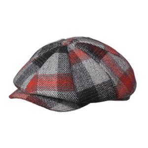 NewsBoy Caps Man зима войлочная кепка толстые теплые винтажные Tweed короткая короткая большая весна осень классический стиль мода шляпа
