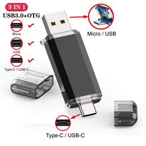 high quality TypeC 3.0 USB Flash Drive Pen Drive 128GB Micro Usb Stick 16GB 32GB 64GB Pendrive for Type-C